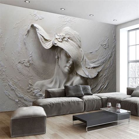 Handmade Wall Murals - 1000 ideas about wallpaper for living room on