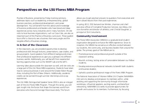 Lsu Mba Entrepreneurship by Executive Mba And Professional Mba At Louisiana State
