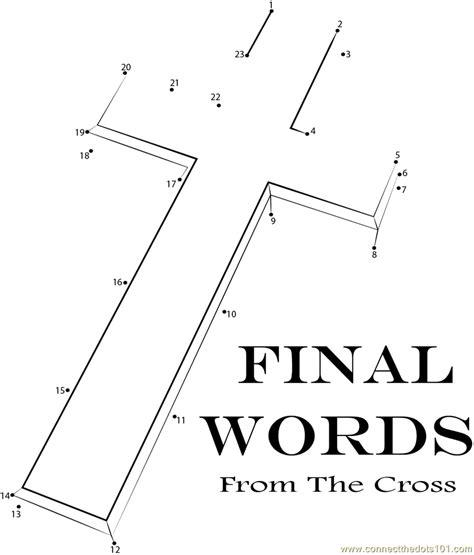 printable religious dot to dot golden cross christian dot to dot printable worksheet