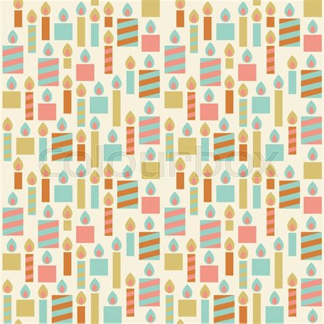 wrapping paper pattern vector candle seamless pattern background vintage birthday