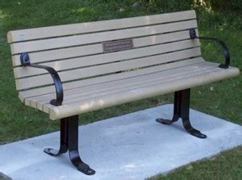 bench memorial plaques park bench plaque economy