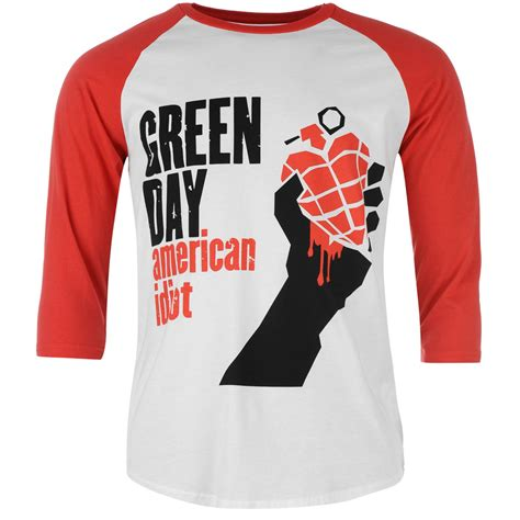 T Shirts Green Day Gdy13 official band merch official band merch green day raglan