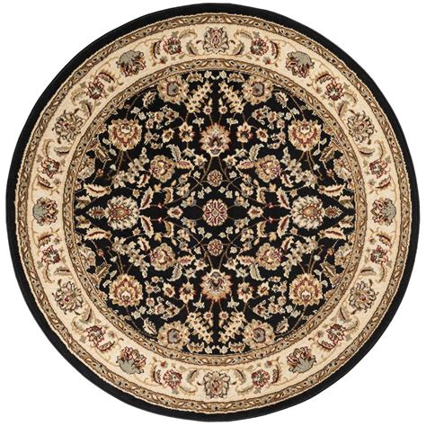 Tayse Rugs Laguna Black 7 Ft 10 In X 7 Ft 10 In Round 7 Ft Rug