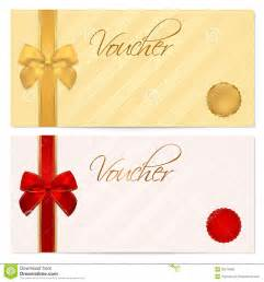 voucher gift certificate coupon template bow stock