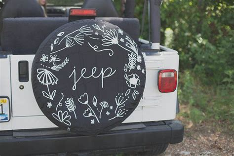 Custom Jeep Tire Cover Custom Floral Jeep Spare Tire Cover Also For By