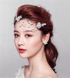hair decorations buy wholesale flower pearls bridal hairwear jewelry wedding dress headband hair