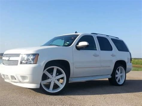 custom white on white chevy tahoe on 24s and 3 12s youtube