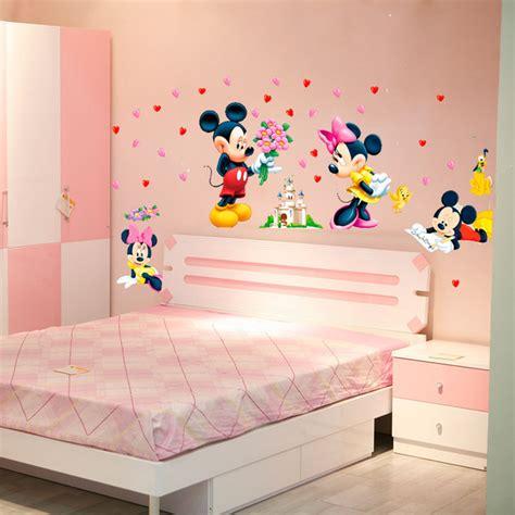 Baby Room Wall Sticker aliexpress com buy cartoon mickey minnie mouse baby home