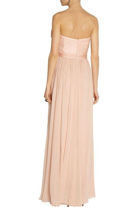 Organza Silk Sutera Baby Pink lyst notte by marchesa silk organza and chiffon gown in pink