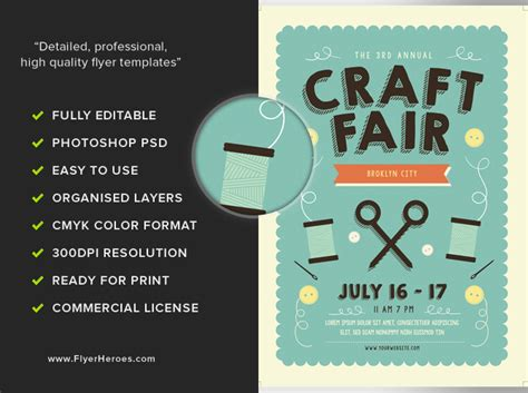 fair flyer template free craft fair flyer template flyerheroes