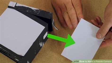 how to make a pinhole 5 ways to make a pinhole wikihow