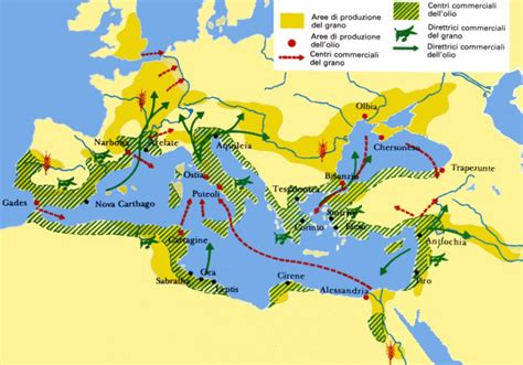 commercio bologna cereali produzione di cereali e olio nell impero romano