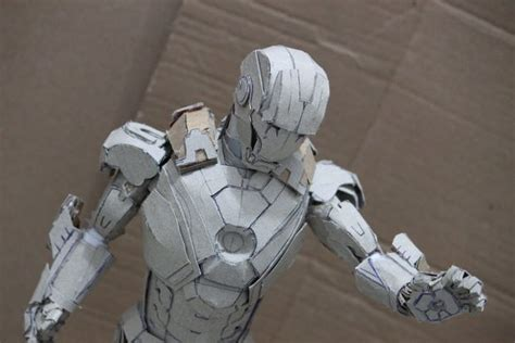 How To Make A Paper Iron - letz build an ironman 7 paper model no pep all