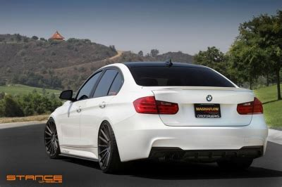 "bmw f30 335i on 20"" stance sc7 slate grey wheels"
