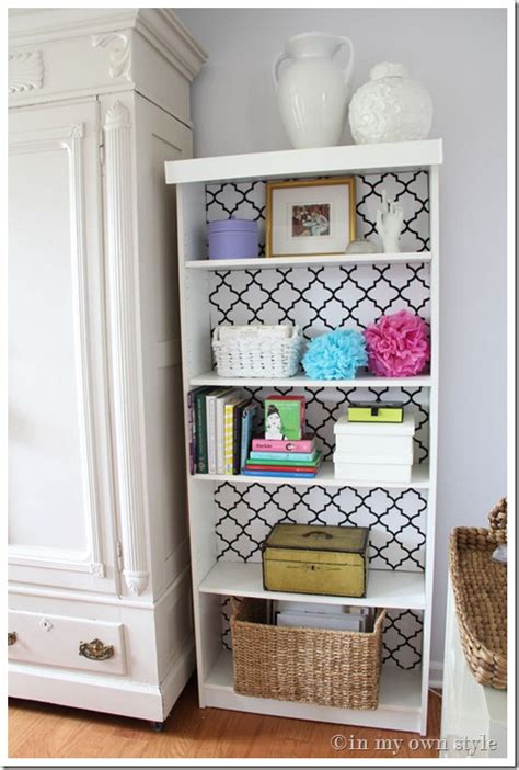 decorate bookshelf ikea billy bookcase makeover in my own style
