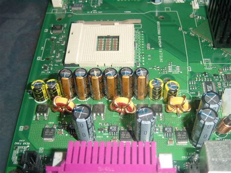 what does a bad capacitor on a motherboard look like dell 400sc motherboard capacitor problems