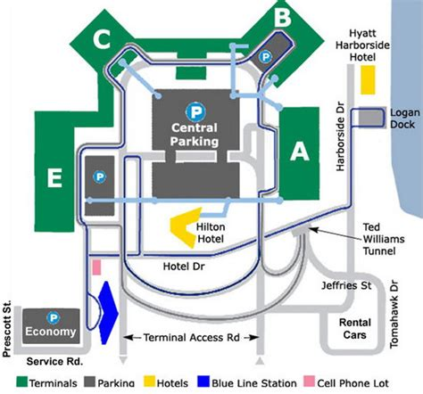 boston logan airport map airport parking logan international airport boston