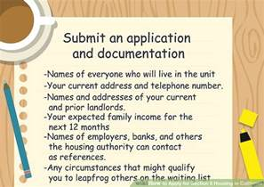 how to apply for section 8 housing in california