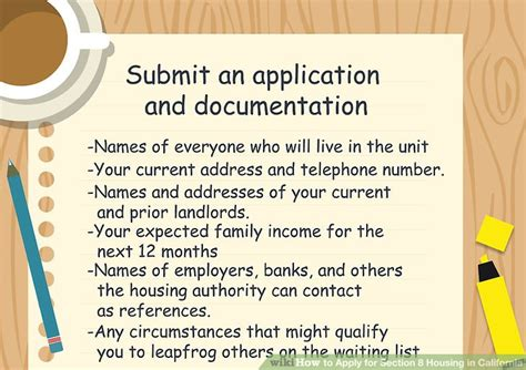 section 8 application in california how to apply for section 8 housing in california