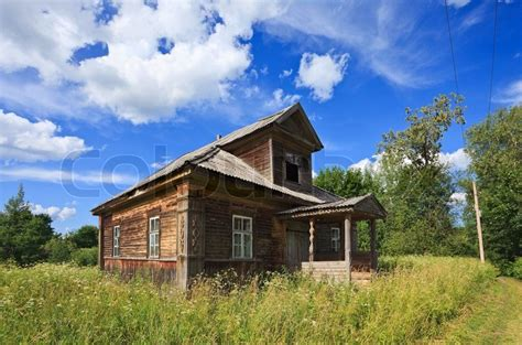 Old Wooden House In Russian Village Stock Photo Colourbox | old wooden house in russian village stock photo colourbox