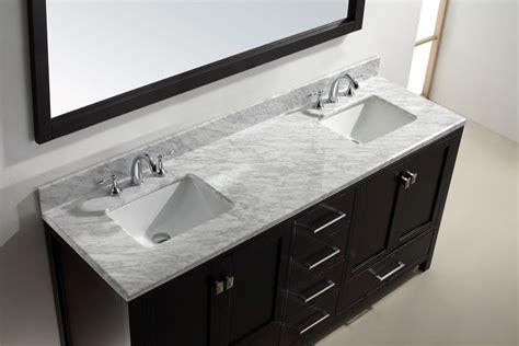 72 Inch Bathroom Vanity Cabinet Virtu Usa 72 Inch Caroline Avenue Bathroom Vanity In Espresso White Marble Newbathroomstyle