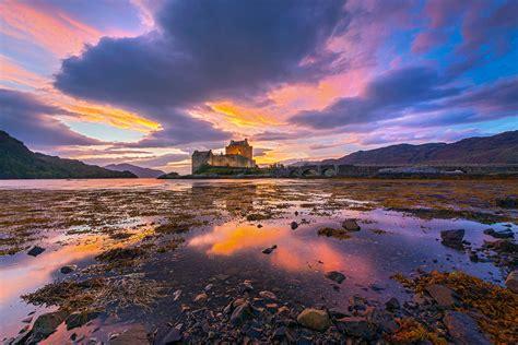 eilean donan castle sunset  scotland mark gray