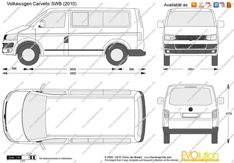 volkswagen caravelle dimensions the blueprints com vector drawing volkswagen caravelle swb