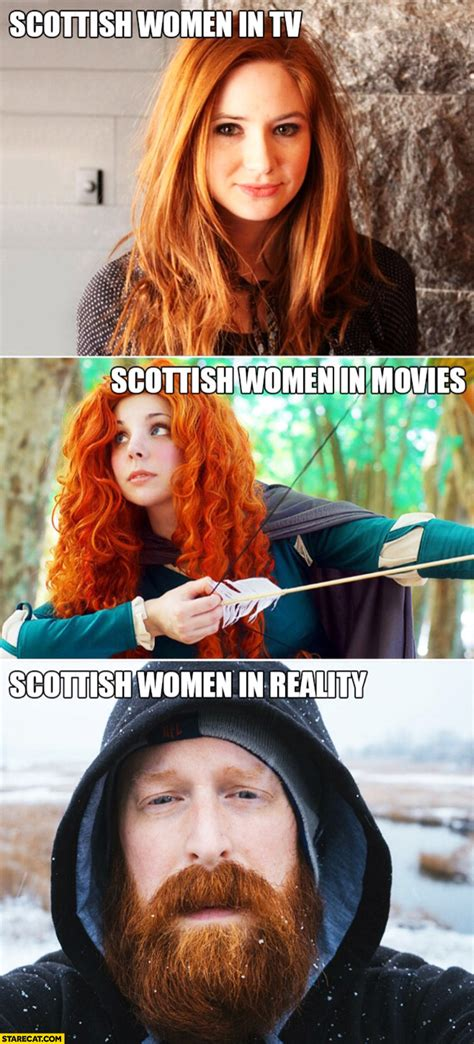 scottish women  tv  movies cute ginger  reality bearded man starecatcom