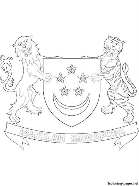 harry potter coloring book singapore singapore coat of arms coloring page coloring pages