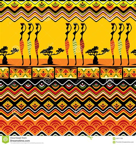 africa vector traditional background pattern african pattern seamless stock vector illustration of