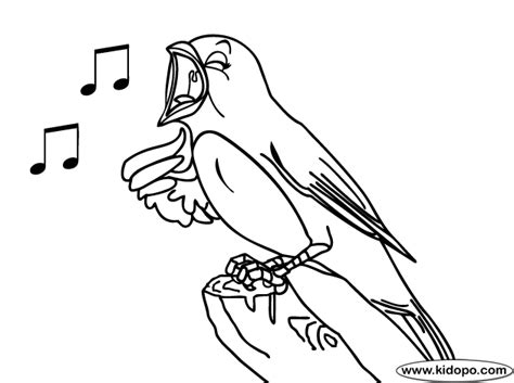 coloring pages of birds singing how to draw singing bird