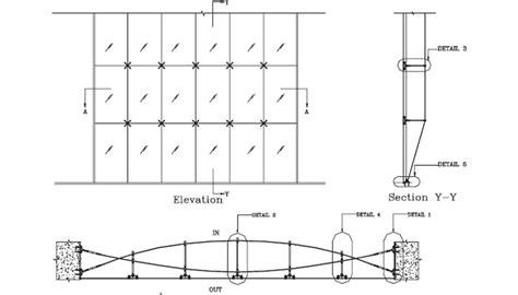 Curtain Rod Dimensions Frameless Cable Truss Facade Systems Frameless Glass
