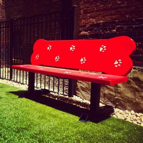 bench for dogs very cute i like the bone shape new dog park 515 briar