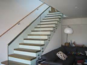 Current Bathroom Trends stair and deck railings with standoffs contemporary