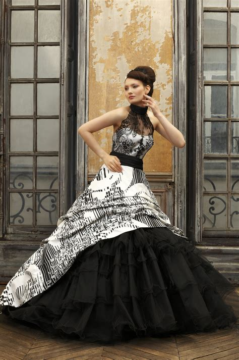 black wedding dress with white lace all for dresscab