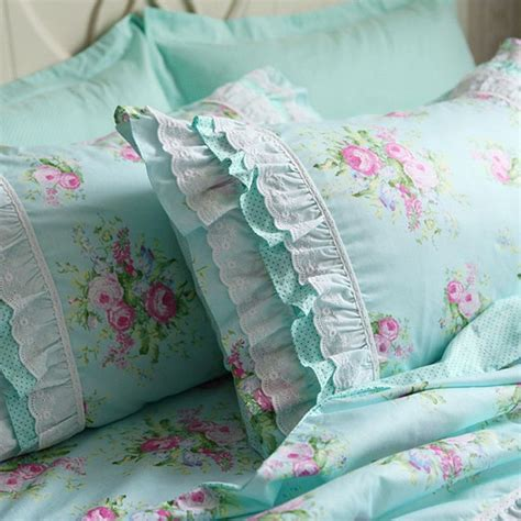 country cottage chic shabby green chic country cottage ruffle lace pillow