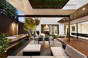 Modern Home Design Outdoor by Indoor Outdoor House Design With Alfresco Terrace Living
