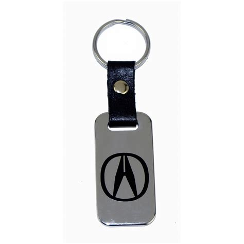 acura leather key chain fob
