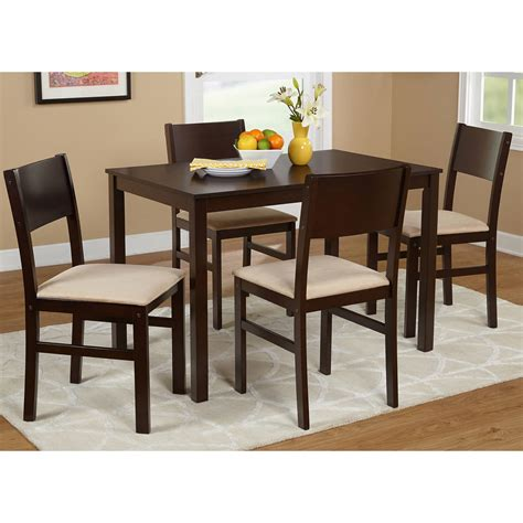Unique small dining table and chairs for 4 light of dining room