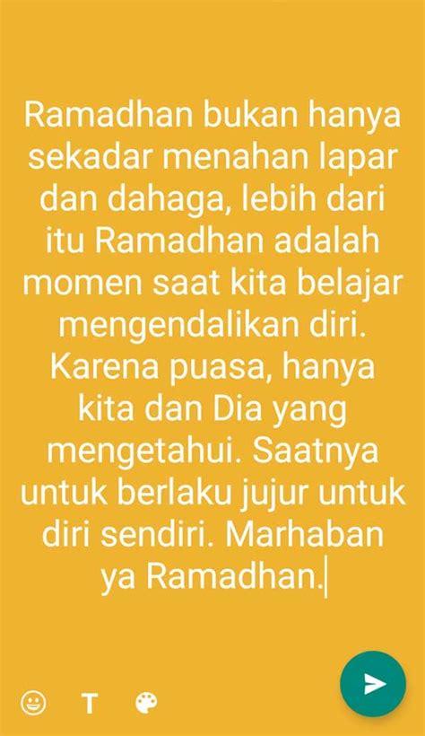 kata ucapan ramadhan terbaru  status wa  gambar