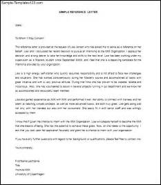 Sample reference letter for employment recommendation sample