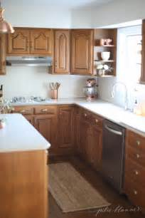 updating oak kitchen cabinets without painting 5 ideas update oak cabinets without a drop of paint