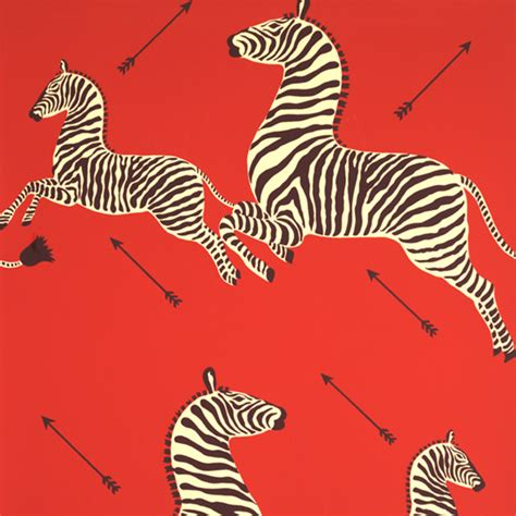 zebra pattern red zebras wallpaper by scalamandre masai red digs