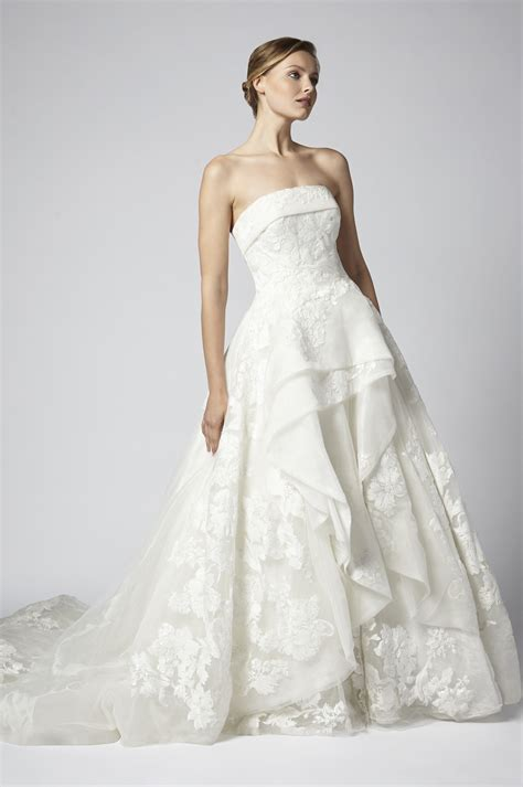 strapless tulle and beaded gown tiered wedding dress