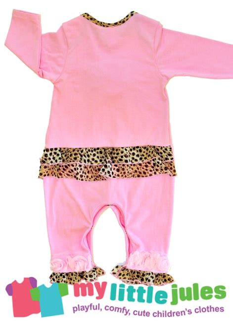 Jumpsuit Baby Pink Leopard cachcach toddler pink with leopard detail jumpsuit