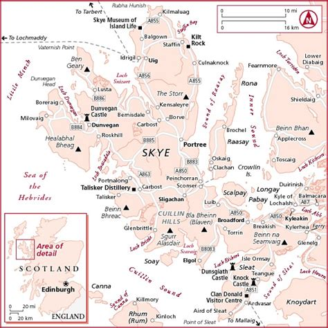 printable map skye maps in isle of skye frommers travelquaz com