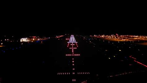 runway lights at night a pilot s view night landing london gatwick