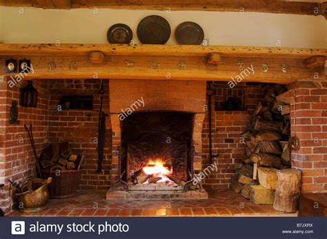 inglenook fireplace stock photo royalty free image