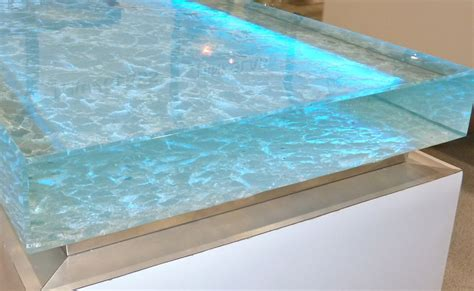 sea glass countertops illuminated counter from thinkglass