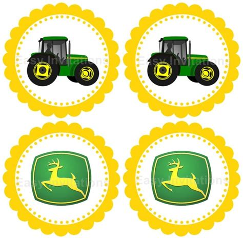 Deere Cupcake Decorations by Cupcake Toppers Cupcake Stick Toppers Decorating Ideas